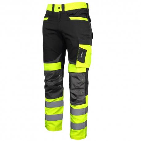 Spodnie ostrzegawcze robocze do pasa żółte Slim Fit Lahti Pro L40511