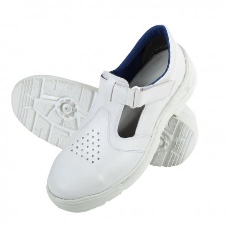 Białe sandały robocze S1 SRC do branży spożywczej lub medycznej F30608