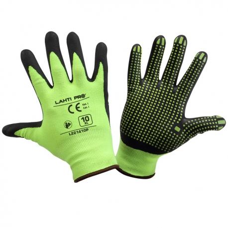 Rękawice ochronne robocze nitrylowe nakrapiane Lahti Pro L2214