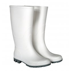 Galoshes high white rubber boots without toe S30703