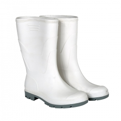 Galoshes white short mid-calf rubber boots without toe S30704