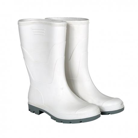 Kalosze białe krótkie do połowy łydki gumowce bez podnoska S30704