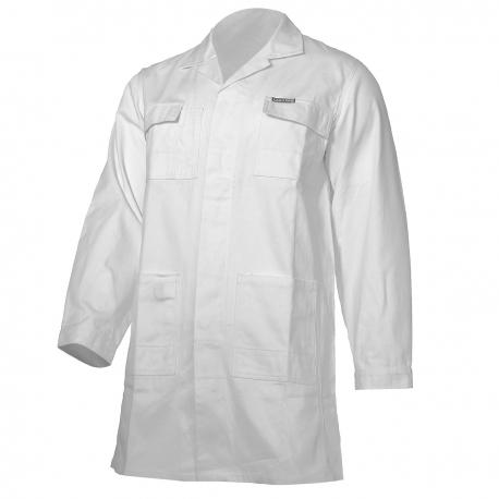 Working white protective apron Lahti Pro L41603 cotton