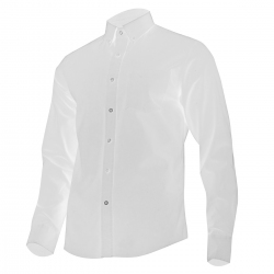 Men's white cotton shirt Lahti Pro L41806