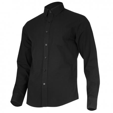 Koszula męska codzienna czarna bawełna długi rękaw Lahti Pro L41805