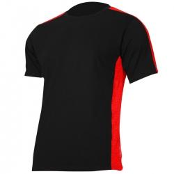 Koszulka t-shirt czarno czerwona 180g bawełna Lahti Pro L40227