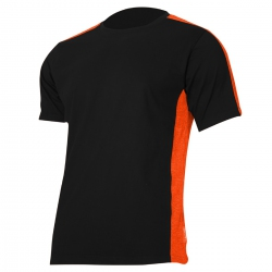 T-shirt, black-orange 180g, cotton Lahti Pro L40230