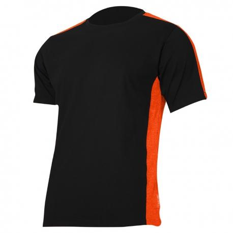T-shirt, black-orange 180g, cotton Lahti Pro L40230