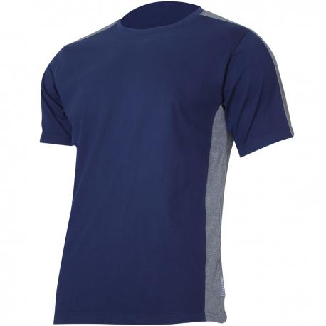 Koszulka t-shirt granatowo szara 180g bawełna Lahti Pro L40229