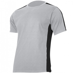 Koszulka t-shirt szaro czarna 180g bawełna Lahti Pro L40228