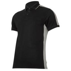 Koszulka Polo męska czarno szara 190g bawełna Lahti Pro L40318