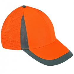 Czapki z daszkiem siatkowe pomarańczowe 12 szt. Lahti Pro L1010400