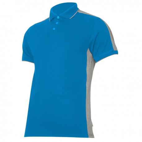 Koszulka Polo męska niebiesko szara 190g bawełna Lahti Pro L40319