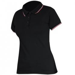 Koszulka Polo damska czarna 190g bawełna Lahti Pro L40317