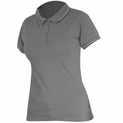 Polo shirt women's gray 190g cotton Lahti Pro L40315
