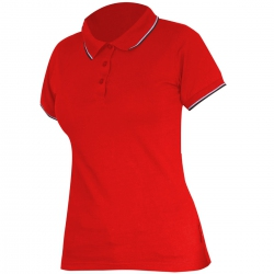 Polo shirt women's red 190g cotton Lahti Pro L40314