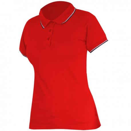 Polo shirt women's red 190g cotton Lahti Pro L40314