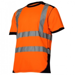 Orange T-shirt warning t-shirt Lahti Pro L40226