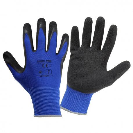 Working gloves coated with Lahti Pro L2117 latex
