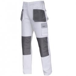 Spodnie robocze do pasa ochronne bawełna białe Lahti Pro L40513