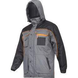 Winter jacket insulated gray black Lahti Pro L40929