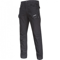Black slim fit cargo trousers Lahti Pro L40515