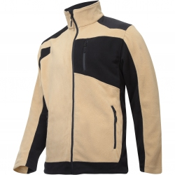 Fleece jacket with reinforcements beige Lahti Pro L40119