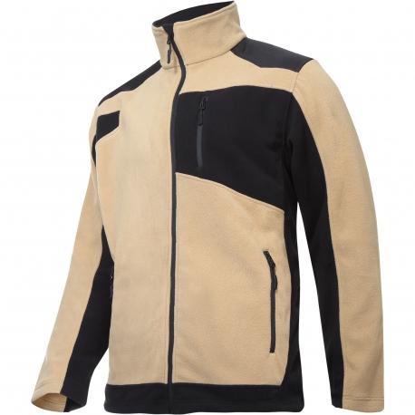 Fleece jacket with reinforcements beige Lahti Pro L40119