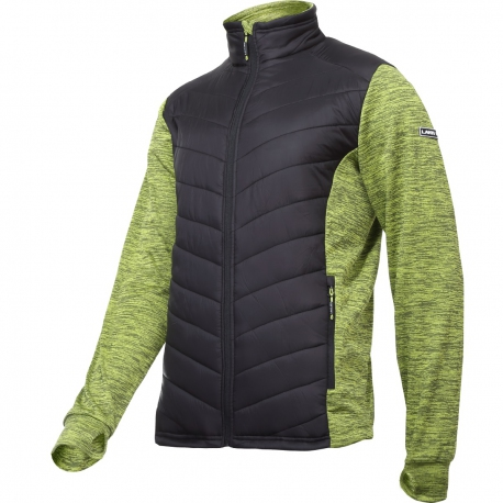 Insulated quilted sweatshirt for men green Lahti Pro L40123