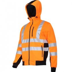 Bluza ostrzegawcza z kapturem pomarańczowa Lahti Pro L40125