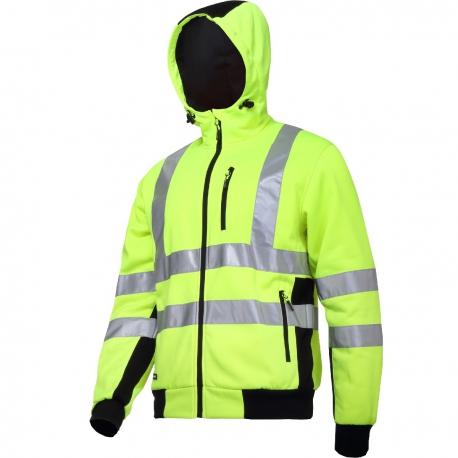 Reflective hoodie yellow Lahti Pro L40124