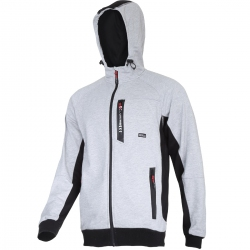 Premium gray Hoodie with zipper Lahti Pro L40126