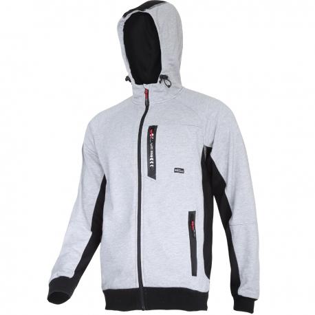 Premium gray Hoodie with zipper Lahti Pro L40126