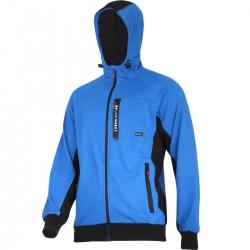 Bluza z kapturem na suwak niebieska premium Lahti Pro L40127