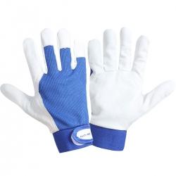 Rękawice robocze ze skóry koziej 12 par niebieskie Lahti Pro L2721