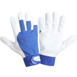 Work gloves made of goat leather 12 pairs blue Lahti Pro L2721