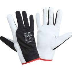 Rękawice robocze ze skóry koziej 12 par czarne Lahti Pro L2722