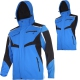Softshell jacket with hood and detachable sleeves blue Lahti Pro L40930