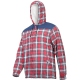 Insulated flannel work shirt with Lahti Pro L41807 checkered sheepskin