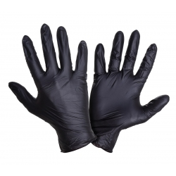 Disposable nitrile gloves black powder-free Lahti Pro L2215