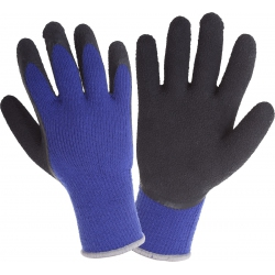 Rękawice ochronne lateksowe ocieplane niebieskie Lahti Pro L2516