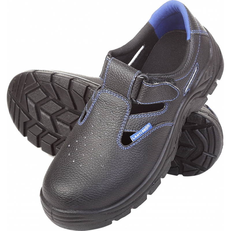Sandały zamszowe robocze S1 SRC męskie podnosek stalowy Lahti Pro L30601