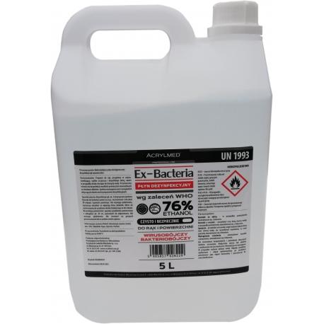 Acrylmed Ex-Bacteria płyn dezynfekcyjny do rąk o działaniu bakteriobójczym 5 litrów