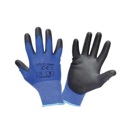 Rękawice robocze poliuretanowe niebieskie Lahti Pro L2310