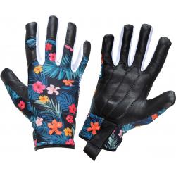Rękawice robocze damskie ze skóry koziej w kwiatki Lahti Pro L2726