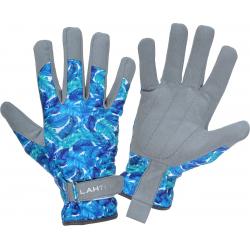 Rękawice robocze damskie ze skóry syntetycznej w kwiatki Lahti Pro L2727