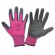 Rękawice damskie lateksowe różowo czarne Lahti Pro L2120