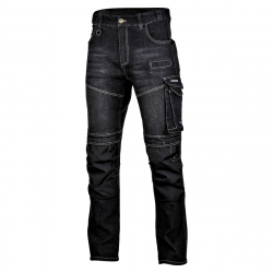Spodnie jeansowe Slim Fit czarne Lahti Pro L40517
