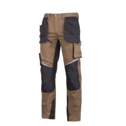 Spodnie robocze brąz ochronne do pasa Slim Fit Lahti Pro L40522