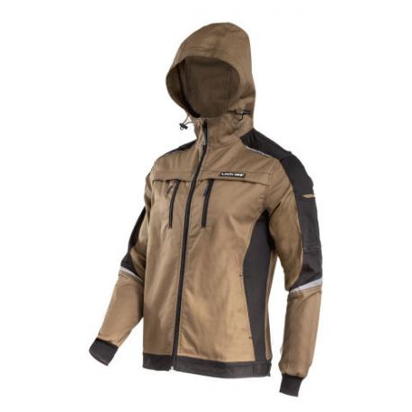 Bluza robocza ochronna z kapturem brąz Slim-Fit Lahti Pro L40415